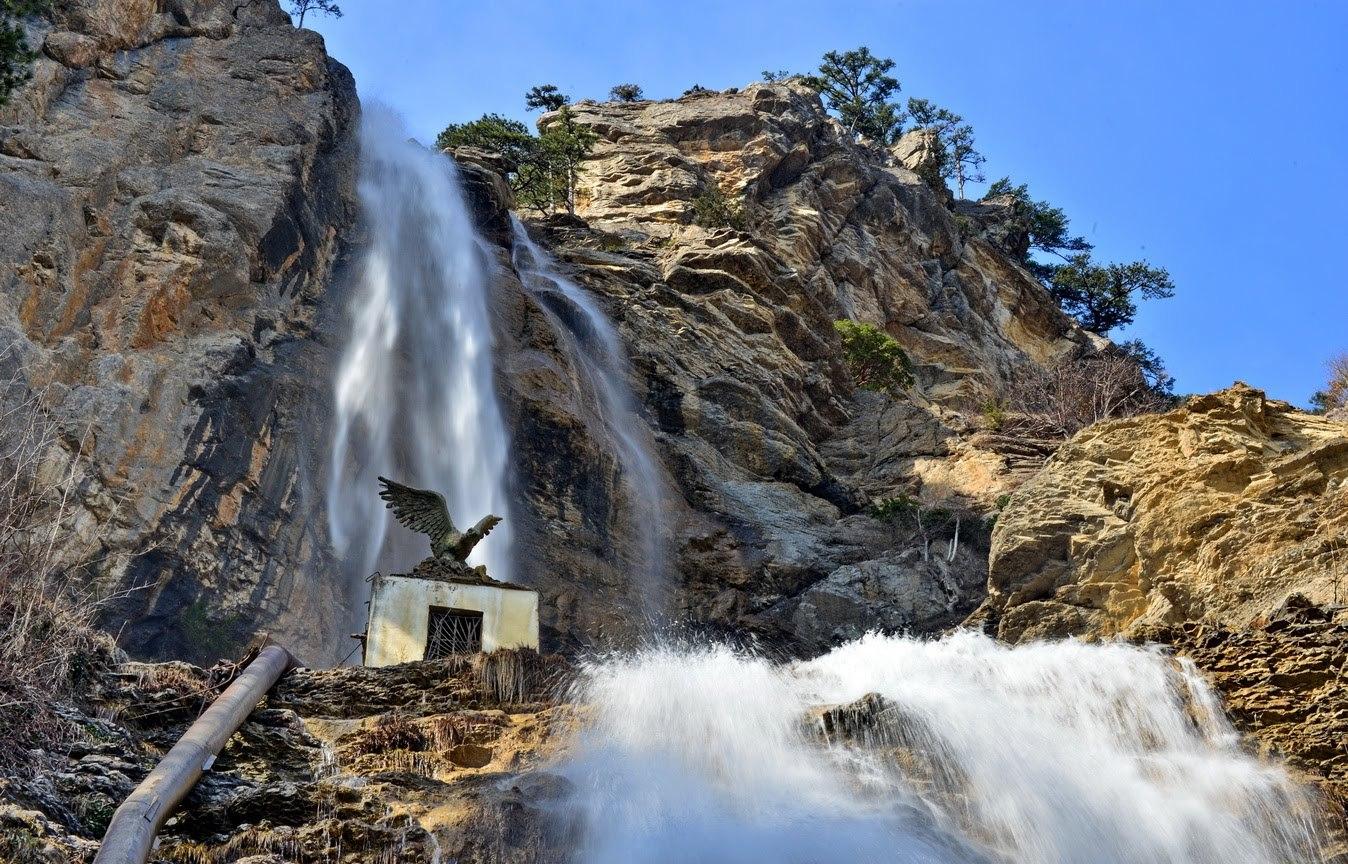 водопаде крым