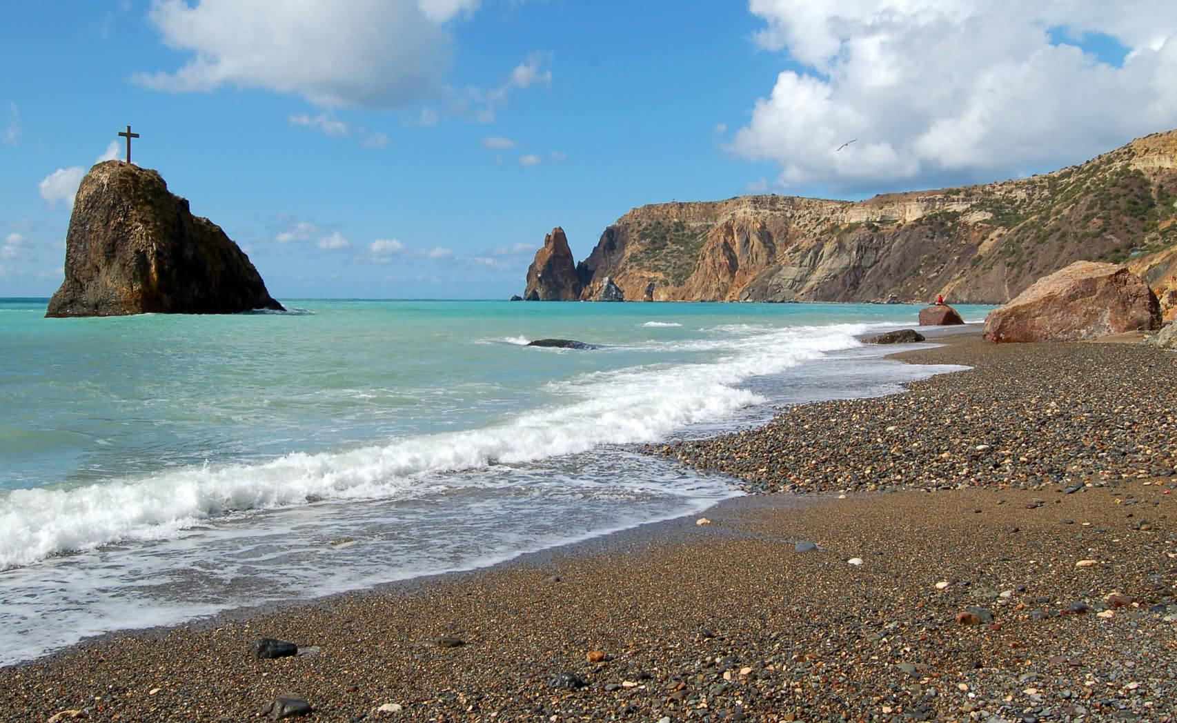 Где в Крыму песчаные пляжи карта фото описание