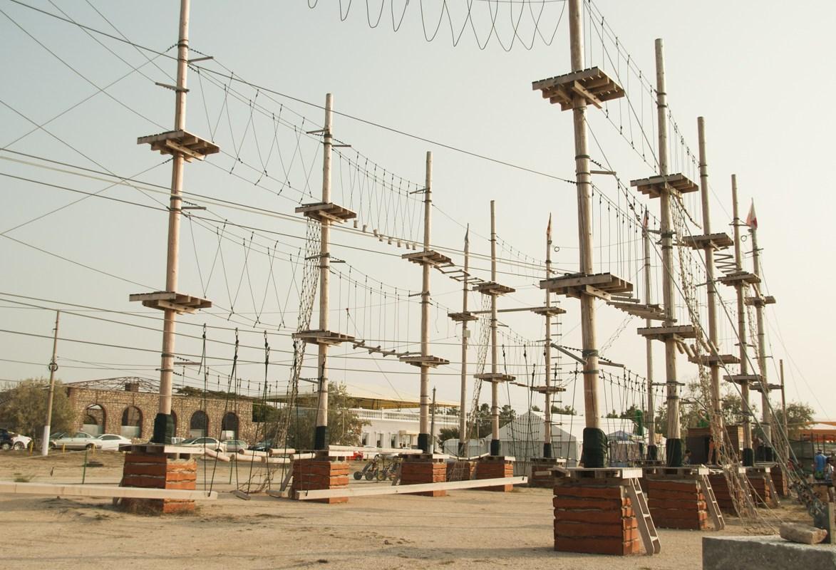 веревочном парке в крыму