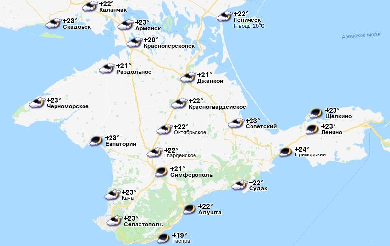 температура воды в крыму в сентябре