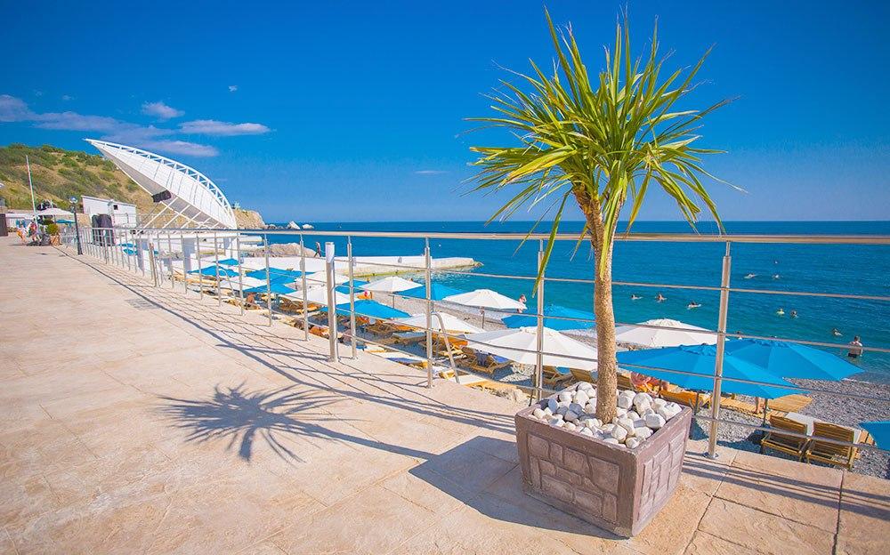 отели крыма с бассейном и собственным пляжем